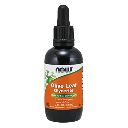 NOW Supplements, Olive Leaf Glycerite 18% Liquid, 2-Ounce
