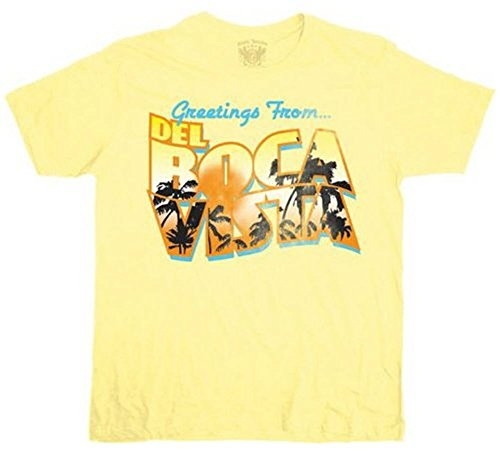 Click for larger image of Seinfeld Greetings From Del Boca Vista Men's T-Shirt Tee Yellow