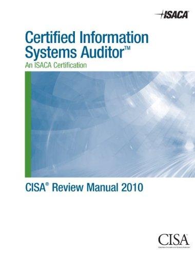 CISA Review Manual 2010 ebook