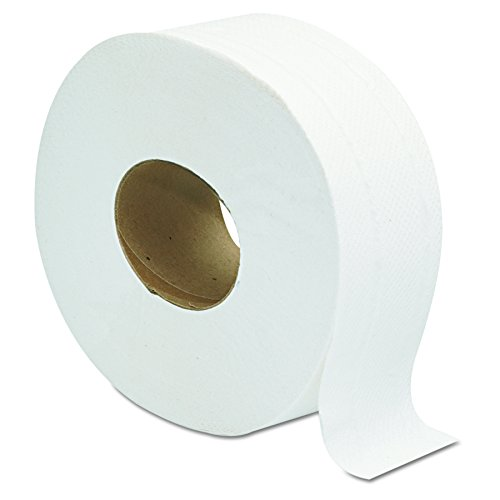 2 Roll Toilet Paper - Jumbo JRT Ultra Bath Tissue, 2-Ply, White, 9 in Diameter (Case of 12 Rolls)
