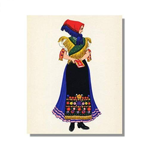 DIY Digital Oil Painting Character Wearing A Headscarf Woman Illustration Decorative Painting Foreign National Costume -
