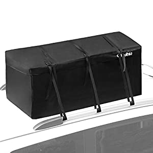 Ohuhu Cargo Bag, 15 Cubic Feet Waterproof Cargo Carrier, Expandable Hitch Tray Roof Top Cargo Bag, Fire Resistant