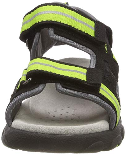 Niños Sandalias A Para C9b3s Geox Sandal lime Jr Green Strada Black OFnnHSY