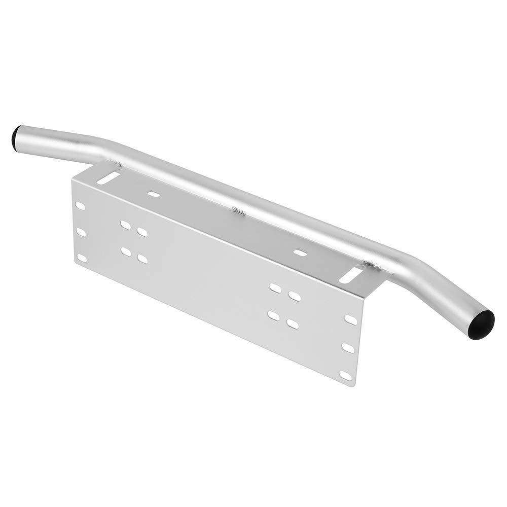 KKmoon Auto kennzeichenhalter Aluminium Universal kennzeichenhalterung Auto LKW Bull Bar Sto/ßstange Rahmen f/ür Gel/ändewagen Jeep LED Arbeitsscheinwerfer