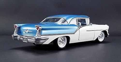 Amazon.com: ACME A1808003 1957 OLDSMOBILE SUPER 88 BLUE/WHITE LTD 624PCS DIECAST CAR 1:18: Toys & Games