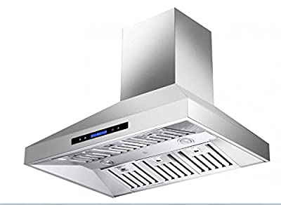 "CAVALIERE 36"" Wall Mounted Stainless Steel Kitchen Range Hood 860 CFM CAV-X06.36"
