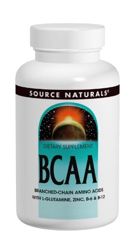 Source Naturals BCAA Branched-Chain Amino Acids, Provides Supports The Body's Muscular Systems, 60 Capsules