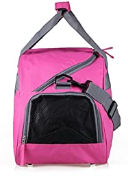 MIER 20inch Sports Gym Bag Travel Duffel Bag with Shoes Compartment for Women and Men (Pink)