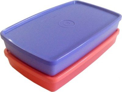 Tupperware   600 ml Plastic Food Storage Set of 2 Lunch Boxes