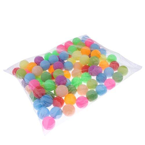 Dovewill 100pcs Mixed Color CAT BALLS - 40mm Plastic Table Tennis Balls - Beer pong - Ping Pong