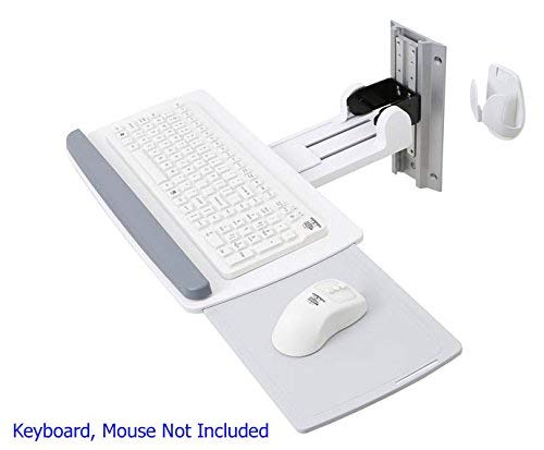 Ergotron Neo-Flex Wall Mount for Mouse, Keyboard - 5 lb Load Capacity - White (153221B) - Neo Flex Lcd Arm Extension