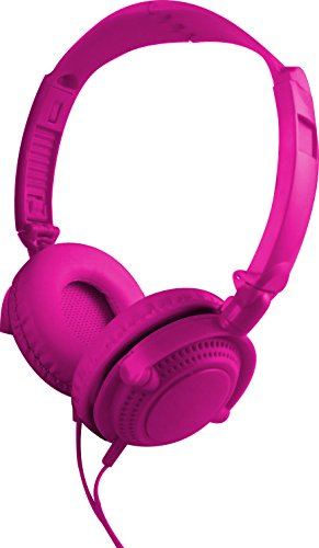 Coby Bluetooth Headphone (Coby CVH-807-PNK 2 in 1 Headphones & Earbuds with Built-In Mic, Pink)