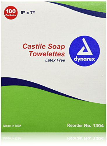 First Aid Only 90867 Castile Soap Wipes