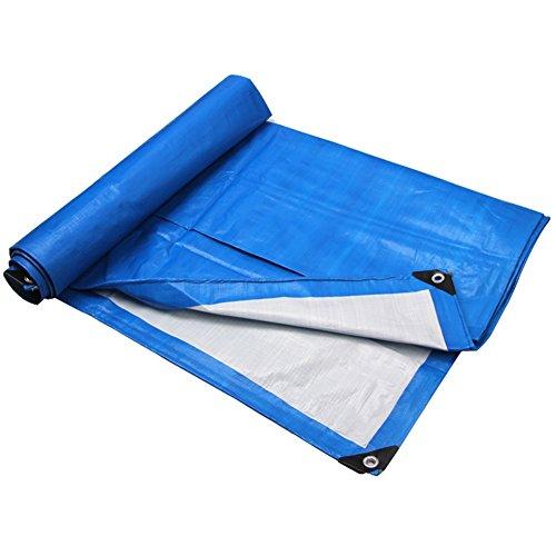 ヒュームシャッフル傑出したJIANFEI ターポリン 二重層 シェード 防水 ロープを追加 強化 折りたたみが簡単 シェッド、 180G/m2、 オプションの8サイズ (色 : 青, サイズ さいず : 2.8m × 3.8m)