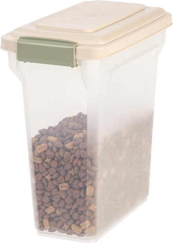 IRIS Premium Airtight Pet Food Storage Container, Tan