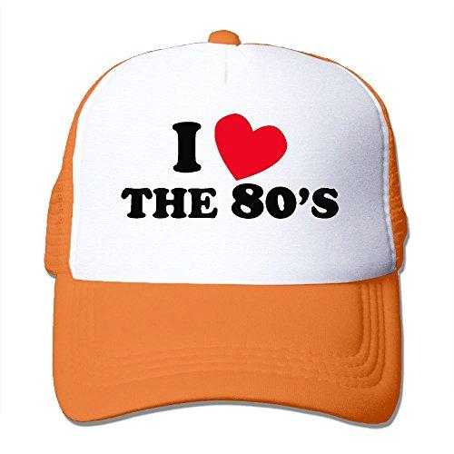 PeaceTown I Love The 80S Mesh Hat Unisex Trucker Caps Sun Mesh Back Cap Hat Sport