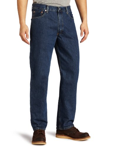 Levi's Men's 550 Relaxed Fit Jean - Big & Tall, Dark Stonewash, 52x30