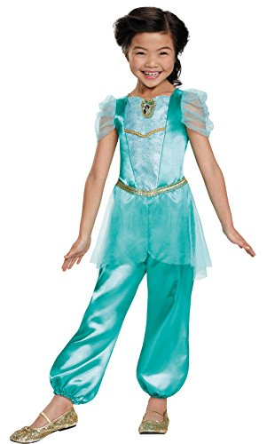 [Disguise Jasmine Classic Disney Princess Aladdin Costume, One Color, Small/4-6X] (Jasmine And Aladdin Costumes)