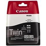 Canon PGI-525 - Cartucho de tinta para Canon Pixma IP4850, MG5150, MG5250, MG6150, MG8150, 2 unidades, color negro
