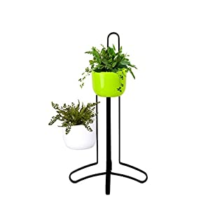 Succulent Hanging Planter Table Decor - Indoor Plant Vase w/ Magnetic Stand & 2 Pots - Planters for Succulents, Air Plant, Cactus, Flower, Pencil - Perfect Decoration for Desk, Kitchen, Office, Room