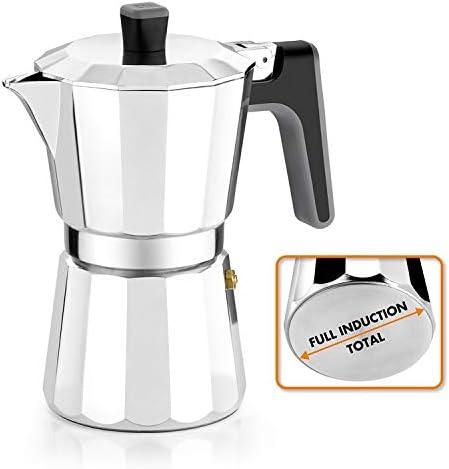 BRA Perfecta – Cafetera Italiana Inducción, Aluminio, capacidad 6 tazas, color plata: Amazon.es: Hogar