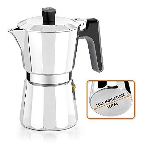 BRA Perfecta – Cafetera Italiana Inducción, Aluminio, capacidad 12 tazas, color plata