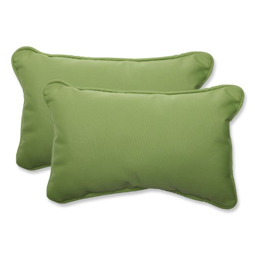 Pillow Perfect Indoor/Outdoor Rectangular Throw Pillow (Set of 2) with Sunbrella Canvas Ginkgo Fabric, 18.5 in. L X 11.5 in. W X 5 in. D (Pillows Rectangular Outdoor)