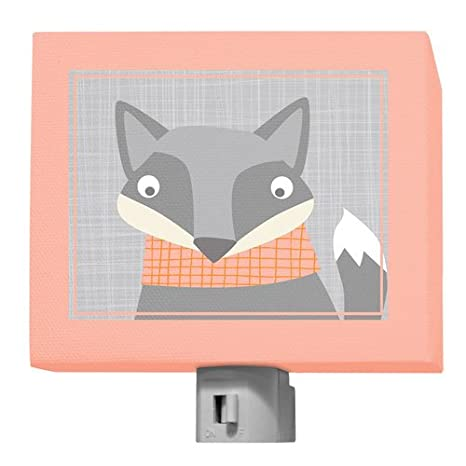 Gray Orange Oopsy Daisy Happy Fox Multi Night Light 5 x 4