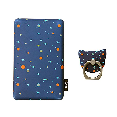 Kobwa-Creative-Cute-Power-Bank-10000mAh-Portable-Charger-with-Finger-Ring-and-Storage-Bag-for-IPhone-Samsung-Phone-IPad-Gifts-and-More-Starry-Sky