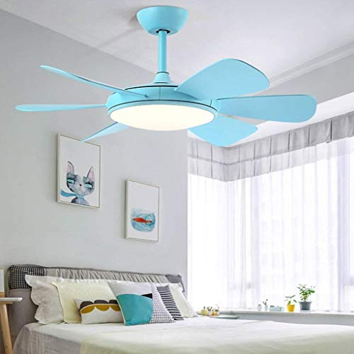 DEE Lights - Living Room Ceiling Lights Ceiling Fan Lamp Lighting Home Lounge Dining Room Simply Macaroons Chandelier Fan Engine of of Comfort Silent to The Customs W Green Color Its Siz (Custom Carton)