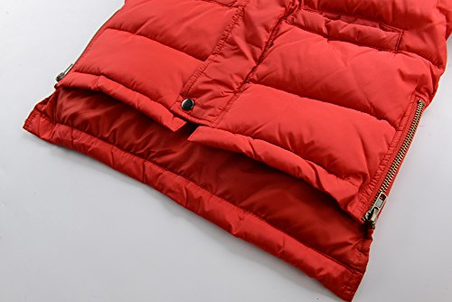 M2C Boys Winter Faux Fur Hooded Warm Insulated Jacket Parka 6/7 Red by M2C (Image #6)