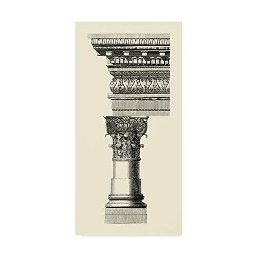 Vision Studio Column - Trademark Fine Art WAG00306-C1224GG Column and Cornice I by Vision Studio, 12x24-Inch 12x24 Multicolor
