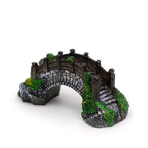 (Tcplyn 1 Pcs Aquarium Resin Arch Bridge Artificial Bridge Model for Fish Tank Aquarium Sand Table Decor)
