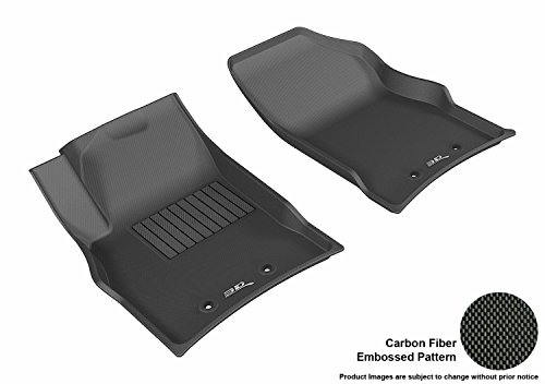 3D MAXpider L1CD00911509 Floor Mat (Front Row All Weather for Cadillac ELR Kagu Rubber Black)