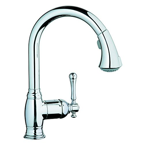 GROHE 33 870 000 Bridgeford Dual Spray Pull-Out Kitchen Faucet, Chrome (Kitchen Bridgeford Bronze)