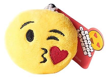 Cojín Emoji uglymug Mini Lanza un Beso Emoji Llavero: Amazon ...