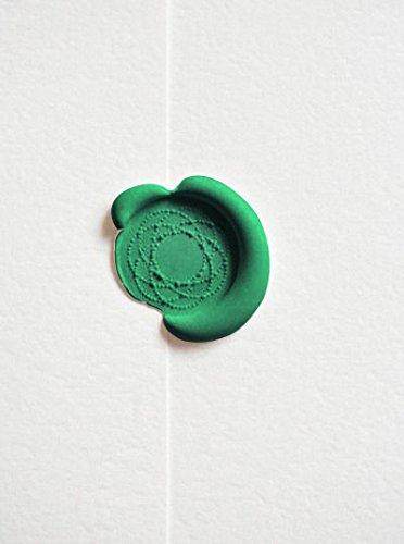 Ceralacca vintage 12 pezzi 3 1//2 UNIQOOO per sigillare con il timbro gli inviti nuziali verde