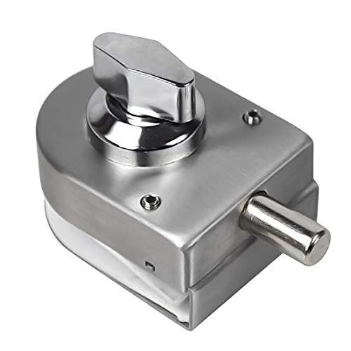 (SPOTACT Stainless Steel Glass Door Lock Floor Latch Lock Bolt Ground Lock for Bathroom Toilet Shop Glass Doors)