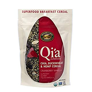 Nature's Path Qi'a Superfood Organic Gluten Free Chia, Cranberry Vanilla, 7.9 Oz Pouch