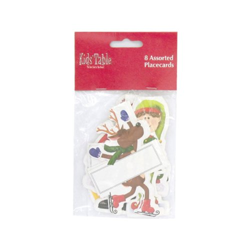 Bulk Buys Holiday Fun Kids Play Christmas Party Decoration Place Cards Pack of 8 Case 24