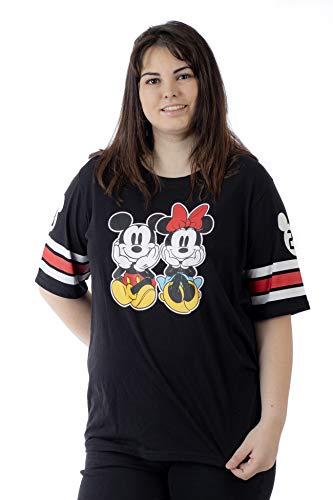 Disney Women's T-Shirt Junior Plus Size Front Back Print (Mickey & Minnie, 3X) (Plus Size Junior Shirts)