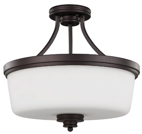 24 Semi Flush - Canarm ISF286A03ORB 3 Light Jackson Semi Flush Semi Flush Ceiling Light, Oil Rubbed Bronze
