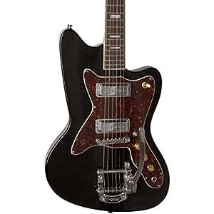 silvertone classic 1478 bk electric guitar gloss black musical instruments. Black Bedroom Furniture Sets. Home Design Ideas