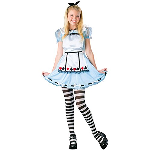 Teen Alice in Wonderland Girl's Halloween Costume (Size: Teen 0-9) - Classic Alice In Wonderland Costume Ideas