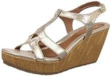 ef004f593 Bata Women s Gabi Gold Fashion Sandals - 6 UK India (39 EU) (