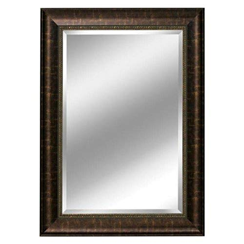 Head West Distressed Embossed Mirror, 31 by 37-Inch, -