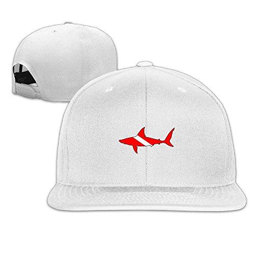 Hat Diver (Vsricco Shark Diver Scuba Baseball Cap Adjustable Trucker Hat Colorkey)