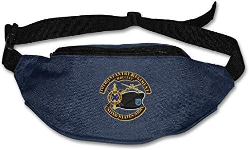 陸軍第10歩兵Br Duiユニセックスアウトドアファニーパックバッグベルトバッグスポーツウエストパック
