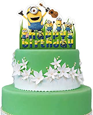 Marvelous Amazon Com Minions Cake Topper Despicable Me Birthday Collection Personalised Birthday Cards Cominlily Jamesorg