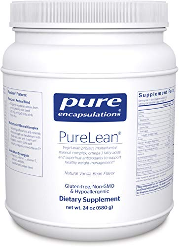 Pure Encapsulations - PureLean - Vegetarian Protein for Healthy Weight Management** - Natural Vanilla Bean Flavor - 680 ()